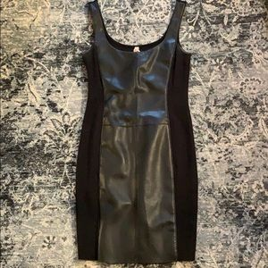 Bailey 44 mini dress with leather panel